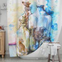 KESS InHouse® Bottled Animals Shower Curtain