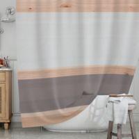 KESS InHouseR Spring Swatch Shower Curtain In Grey