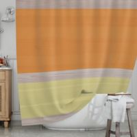 KESS InHouse® Spring Swatch Shower Curtain in Orange/Yellow