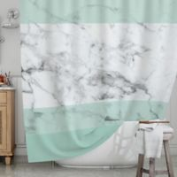 KESS InHouse® Mint Marble Fade Shower Curtain
