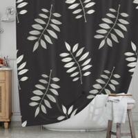 KESS InHouse® Pagoda Leaf Shower Curtain