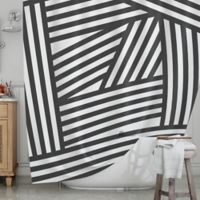 KESS InHouse® Stripes Shower Curtain in Black