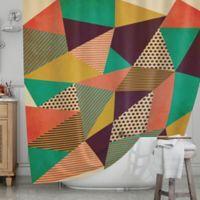 KESS InHouse® Geometric Love II Shower Curtain
