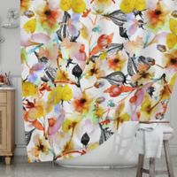 KESS InHouse® Blossoms Shower Curtain