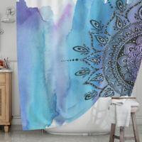 KESS InHouse® Blue Mandala Shower Curtain