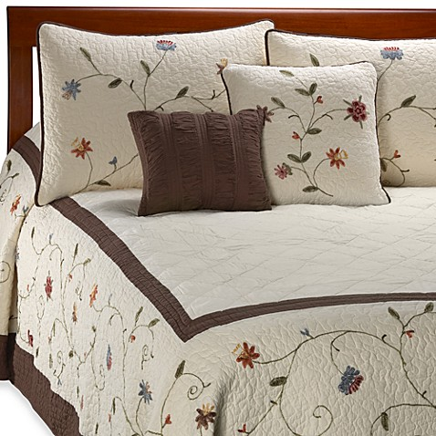 Ambria Chocolate Bedspread Bed Bath Amp Beyond