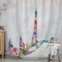 KESS InHouse® Paris Shower Curtain