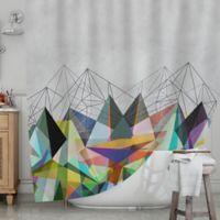 KESS InHouse® Colorflash 3X Shower Curtain