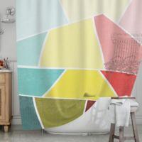 KESS InHouse® Cartagena Balconies Shower Curtain