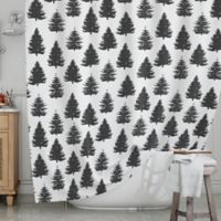 KESS InHouse® Pine Forest Shower Curtain