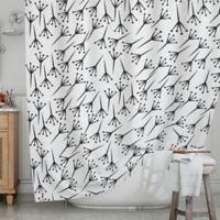 KESS InHouse® Branch Shower Curtain