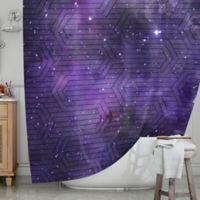 KESS InHouse® Cosmic Labyrinth Shower Curtain