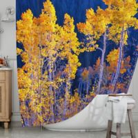 KESS InHouse® Trees Shower Curtain in Yellow