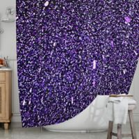 KESS InHouse® Purple Dots Shower Curtain