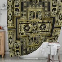 KESS InHouse® Golden Art Deco Shower Curtain