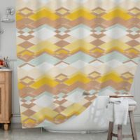 KESS InHouse® Retro Desert Shower Curtain