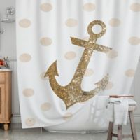 KESS InHouse® Glitter Anchor Shower Curtain