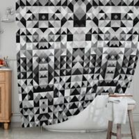 KESS InHouse® Geometrie B & W Shower Curtain