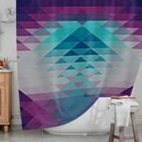 KESS InHouse® Hipster Girl Shower Curtain