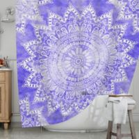 KESS InHouse® Mandala Shower Curtain in Purple
