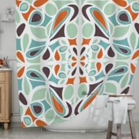 KESS InHouse® Stained Glass Shower Curtain