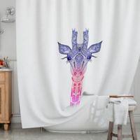 KESS InHouse® Rainbow Giraffe Shower Curtain