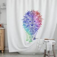 KESS InHouse® Rainbow Lion Shower Curtain