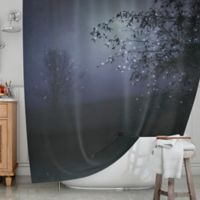 KESS InHouse® The Nightbird Shower Curtain