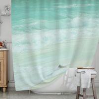 KESS InHouse® Paradise Beach Shower Curtain in Mint