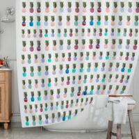 KESS InHouse® Pineapple People Shower Curtain