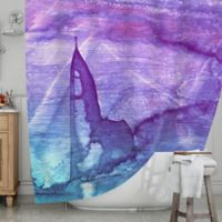 KESS InHouse® Blues Abstract S2 Shower Curtain