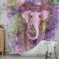 KESS InHouse® Pink Dust Magic Shower Curtain