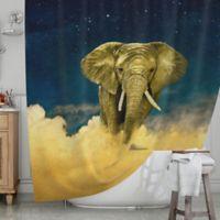 KESS InHouse® Celestial Elephant Shower Curtain