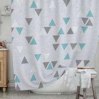KESS InHouse® Triangle Love II Shower Curtain