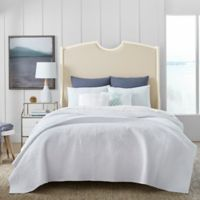 Coastal Living® Coral Embedded Reversible Full/Queen Quilt Set in White