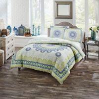 Boho Boutique Gemology King Comforter Set in Spa