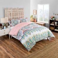 Boho Boutique Rozella Twin XL Comforter Set in Coral