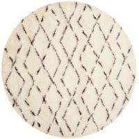 Safavieh Casablanca Harmony 6' Round Area Rug in Ivory/Brown