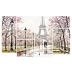 Trademark Fine Art Eiffel Tower 5-Piece Multi-Panel Canvas Wall Art