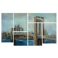 Trademark Fine Art Brooklyn Bridge Multi Panel Canvas Wall Art
