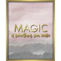 """Magic"" 16-Inch x 20-Inch Shadowbox Wall Art in Pink"