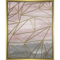 """Geometric"" 16-Inch x 20-Inch Shadowbox Wall Art in Pink"