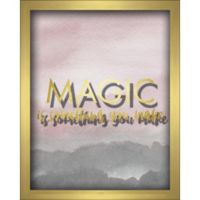"""Magic"" 8-Inch x 10-Inch Shadowbox Wall Art in Pink"