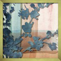 """Branch Silhouette"" 16-Inch x 16-Inch Shadowbox Wall Art in Slate"