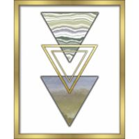"""Triangles"" 16-Inch x 20-Inch Shadowbox Wall Art in Green"