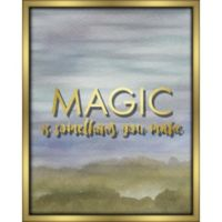 """Magic"" 16-Inch x 20-Inch Shadowbox Wall Art in Blue"