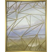 """Geometric"" 16-Inch x 20-Inch Shadowbox Wall Art in Blue"