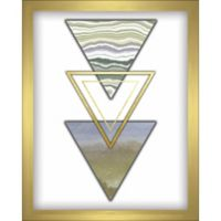 """Triangles"" 8-Inch x 10-Inch Shadowbox Wall Art in Green"