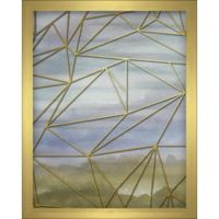 """Geometric"" 8-Inch x 10-Inch Shadowbox Wall Art in Blue"