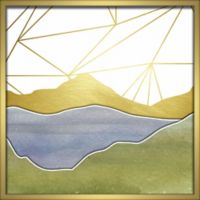 """Mountains"" 24-Inch x 24-Inch Shadowbox Wall Art"